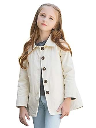 Amazon.com: Sanlutoz Winter Girls Jacket Button Cotton