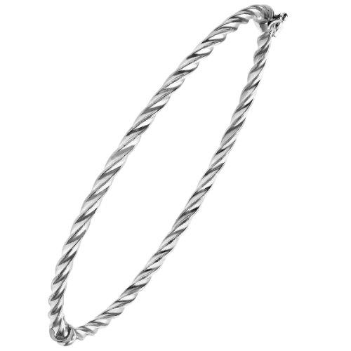 Citerna - RIB1400W - Bracelet Femme - Or blanc 375/1000 (9 Cts) 2.3 Gr - Verre