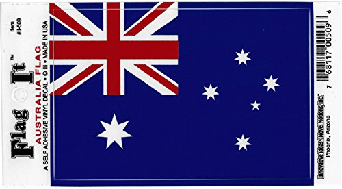 Australia flag decal for auto, truck or boat Australia Flag Sticker