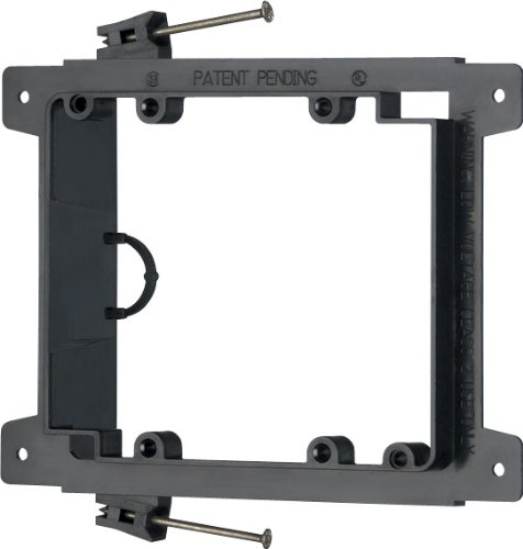 Arlington LVN2 2-Gang Low Voltage Nail-On Mounting Bracket,