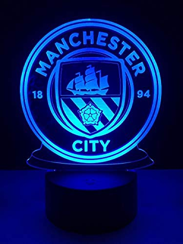 SproudNL Football Soccer Team Series Night Lights Colorful Color Brightness Adjustable USB and Battery-Powered Acrylic Material Home Decorations for Kids Barcelona Messi@Manchester_City - Lighting Barcelona Series