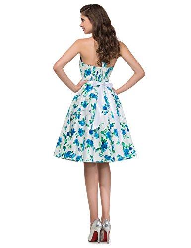 Grace Karin 50s de Las Mujeres del Patrón Retro del Vestido - Vestido Floral Oscilación del Patinador de Vestir 3#