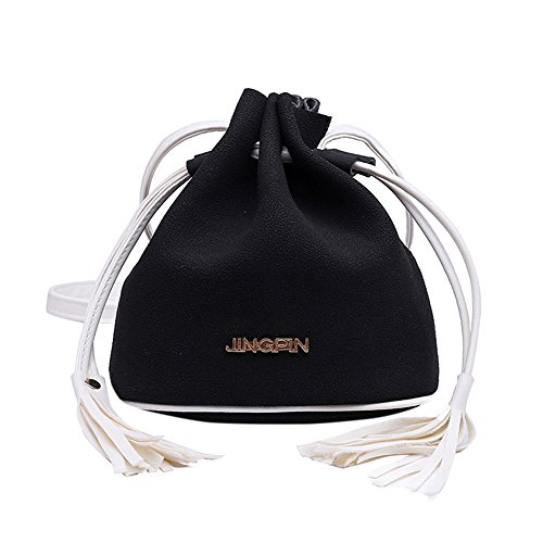 Black Simple Shoulder Drawstring Bag Women Mini Hot ZOMUSA Retro Bucket Sales AwqBgSF