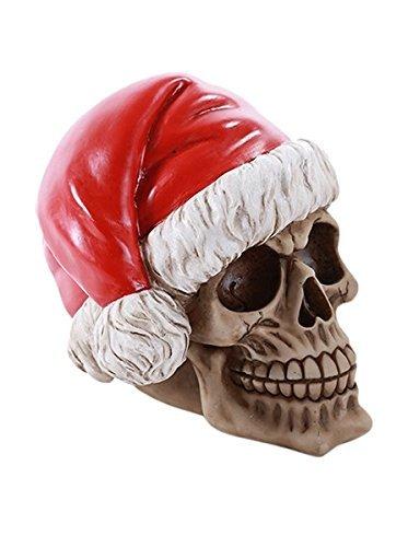 Skull Santa Claus Skelly Claus Christmas Skull Money Bank ()