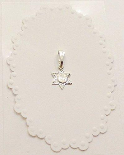 Small Silver Star Of David Jewish Star Pendant Charm