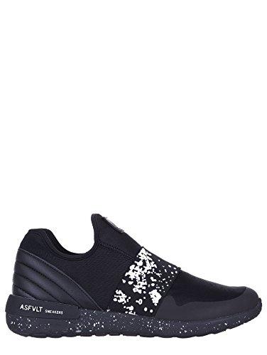 Asfvlt - Zapatillas de Lona para hombre negro negro 45