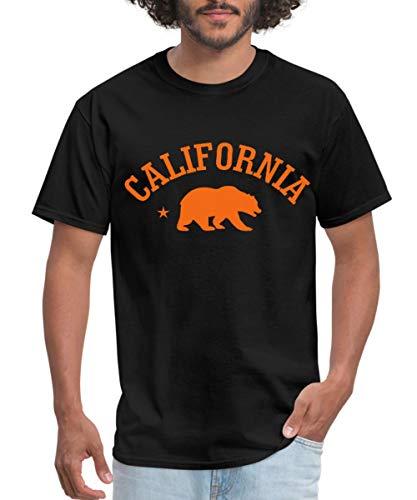 Spreadshirt California Bear Men's T-Shirt, 4XL, Black