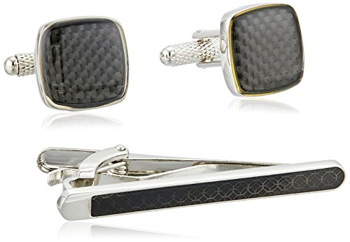 Perry Ellis Carbon Fiber Cufflinks