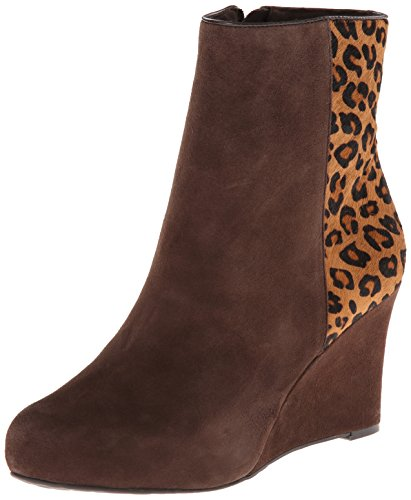 Rockport Women's Seven To 7 85mm Wedge Bootie Ebano/Brown Leopard Print Boot 9.5 (Rockport Leather Jeans)