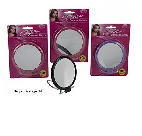 PMS Asst col 2Face 10x Magnifyin 10,2cm Dia Miroir compact sur Glamour Connection