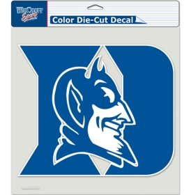 NCAA Duke Blue Devils Die-Cut Color Decal, 8