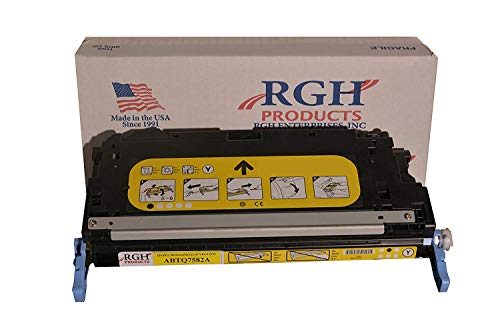 RGH Products Remanufactured ABTQ7582A Yellow Toner Cartridge, Replacement for HP Q7582A 503A, for use in HP Laserjet 3800, CP3505 Series Printers