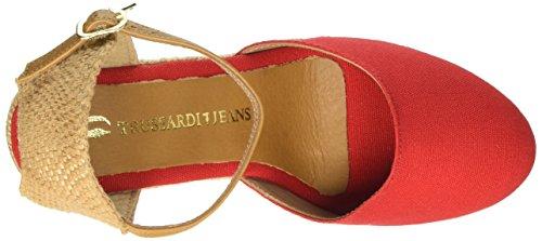 Trussardi Jeans 35 Rosso Rosso Donna Punta 79s06149 Chiusa Sandali RawrR6q