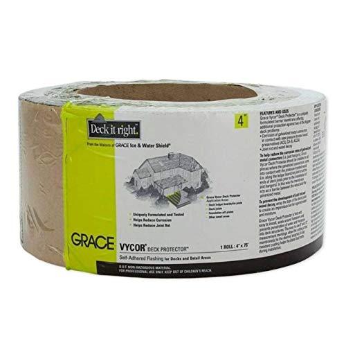 Grace 45639 4'' x 75' Vycor Deck Protector - Quantity 4 Rolls