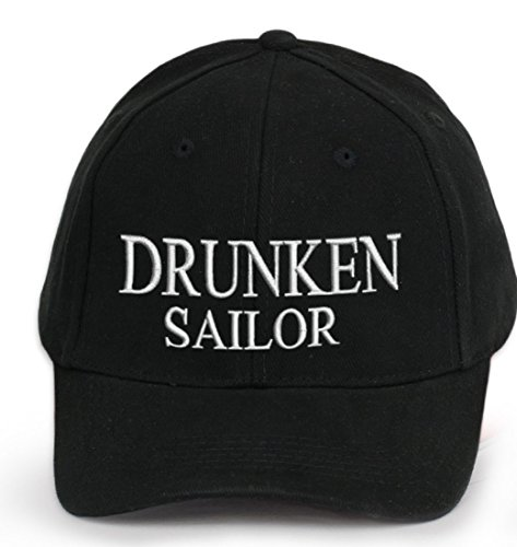 4sold 100% algodón Ancient Mariner, Capitán Cabin Boy tripulación First Mate Yachting Gorra de béisbol inscripción letras negro blanco DRUNKEN SAILOR