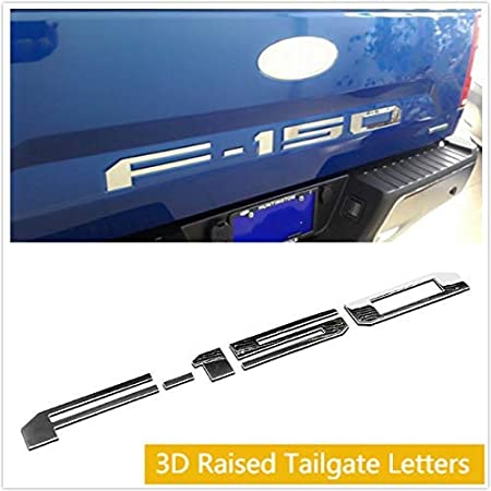 3D Raised Car Letter Sticker Silver, Tundra Coolsport Tailgate Insert Emblem 3M Adhesive
