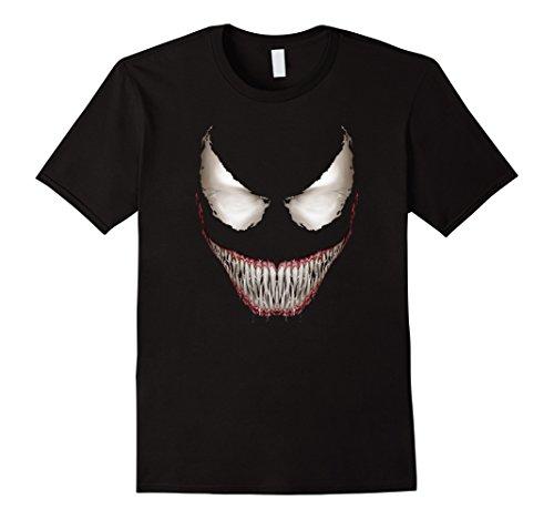 Mens Marvel Venom Big Face Grin Halloween Costume Graphic T-Shirt Medium Black (Venom Halloween)