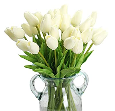 Packozy 20 pcs Real-Touch Artificial Tulip Flowers Home Wedding Party Decor