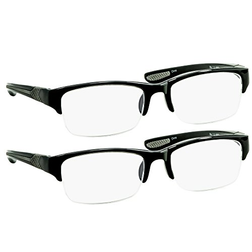 Black Computer Reading Glasses 4.00 Protect Your Eyes Against Eye Strain, Fatigue and Dry Eyes from Digital Gear with Anti Blue Light, Anti UV, Anti Glare, and are Anti Reflective
