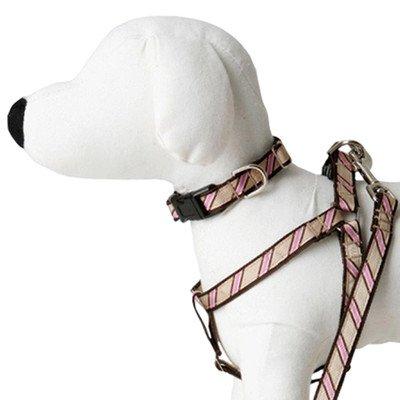 """Varsity Stripe Dog Harness Size: .375"""" Teacup"""