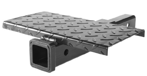 (MaxxHaul 70069 Hitch Extender With Step, 4000-lb Max Towing Weight, 400-lb Tongue Weight.)