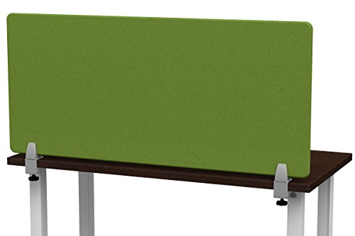 Merge Works Clamp on 48 x 22 Acoustic Desktop Privacy Panel in Green, Tackable Desk ()