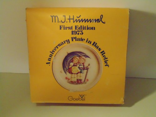 (Mj Hummel First Edition 1975 Anniversary Plate in Bas Rellief)