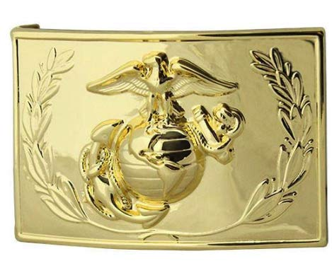 Vanguard MARINE CORPS DRESS BUCKLE - 24K GOLD PLATED WITH EMBLEM AND -