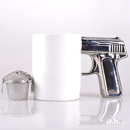 UCEC Gun Mug Stainless Strainer