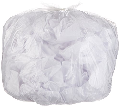 AmazonBasics 45 Gallon Recycling Trash Bag, 1.1 mil, Clear, 150-Count
