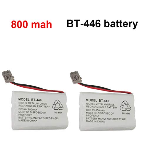 Iusun 3.6V 800MAH Premium Rechargeable Battery for UNIDEN BT-446 BT-1 Cordless Phone Nickel Metal Hydride (white)