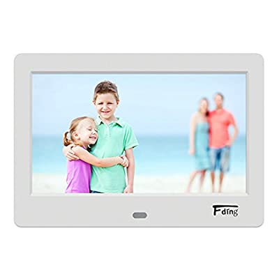Fding 7-Inch Hi-Res Digital Photo Frame 16:9 LED panel Picture Display-1024x600 Resolution with 8GB SD Card
