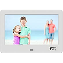 Fding 7-inch HD Digital Photo Frame 16:9 IPS LCD Screen with Rotate/Calendar/Clock Function and 8GB SD Card,MP3/Photo/Video Player