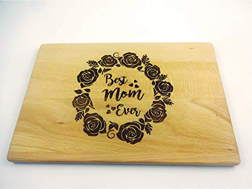 Cutting board Roses BEST MOM EVER 13x8