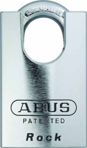 ABUS 83CS/55-300 S2 Schlage 55mm Rekeyable Padlock Solid Steel Chrome Plated Body, 1.4375-Inch Closed Shackle, Zero-Bitted