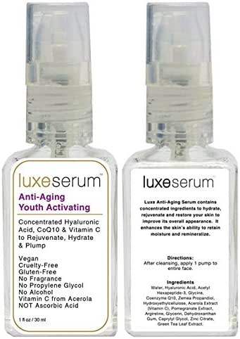 Luxe Beauty: Anti-Aging and Youth Activating Serum for Face and Eyes (1 Fl Oz)