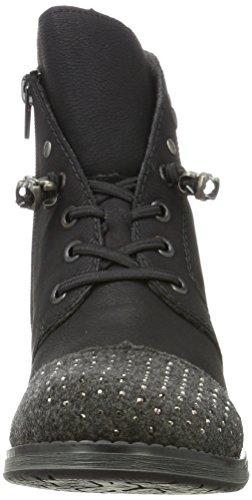 Rieker Dames Cheville Boot Noir 961702-1 Noir