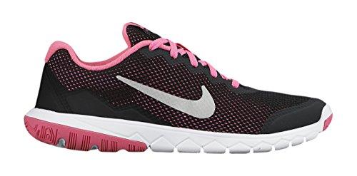 Nike Flex Experience 4 Grade School Big Kids Running, Black/Metallic/Pink, 3.5 (Nike Sneakers For Girls)