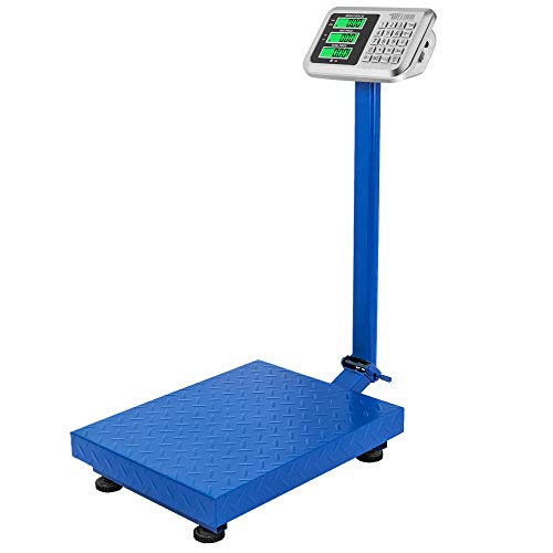 TUFFIOM 661lbs Weight Electronic Platform Scale,Digital Floor Heavy Duty Folding Scales,Stainless Steel High-Definition LCD Display,Perfect for Luggage Shipping Mailing Package Price Computing