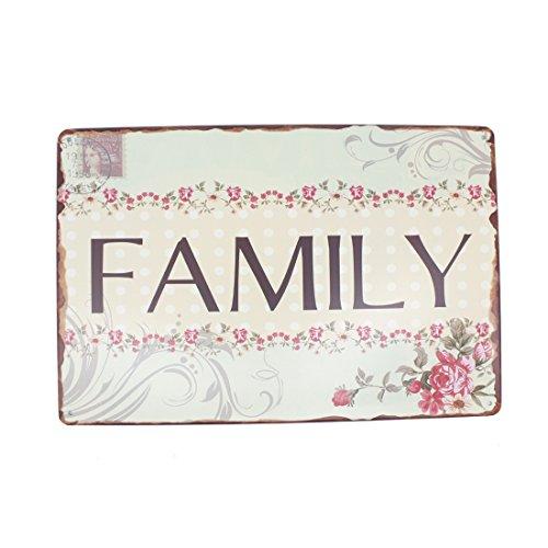 12x8 Inches Pub,bar,home Wall Decor Souvenir Hanging Metal Tin Sign Plate Plaque (Family (Modern Family Halloween Trailer)