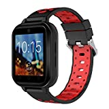 Lovewe Q1 Pro Android6.0 4G Heart Rate Monitor, Blood pressure,Pedometer Phone Call 1G RAM 8G ROM GPS WIFI IP67 Waterproof Smart Watch (RED)