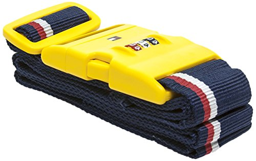 Tommy Hilfiger Luggage Strap with Combination Lock, Yellow