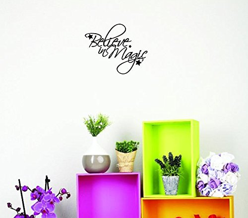 12 x 12 Black Design with Vinyl US V JER 3664 1 Top Selling Decals Believe in Magic Wall Art Size X 12 Inches Color