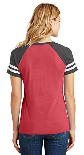 Comical Shirt Ladies Game V-Neck Tee Shut up Liver You're Fine Heathered Red/Heathered Charcoal L by Comical Shirt (Image #2)