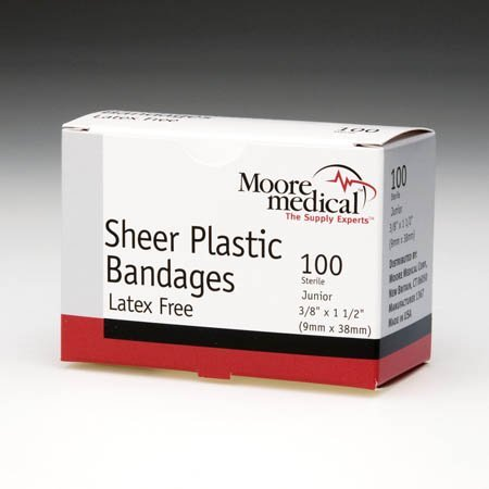 Moore Medical Adhesive Bandages 1 5/8'' X 3/8'' Butterfly Closure - Box of 100