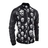Sharemen Men's Jacket Zipper Outwear Skull Warm Coat