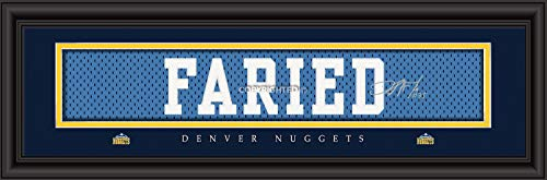 Prints Charming Denver Nuggets Faried Framed Posters 22x6 ()