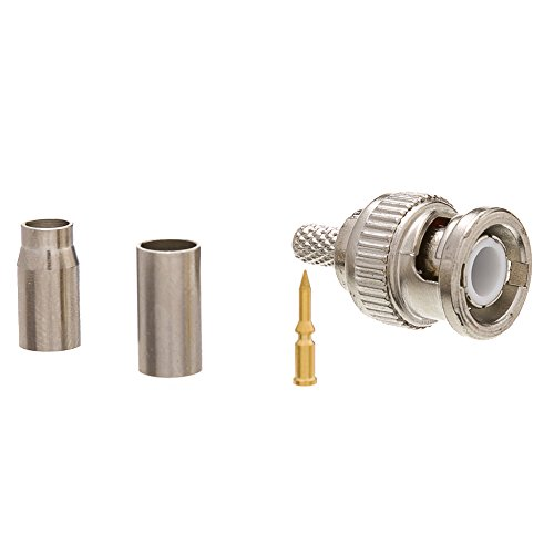 3 Piece Male Bnc Connector - ACL RG58 Stranded BNC Male Connector (3 Piece Set), 10 Pack