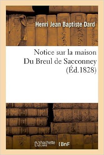 Livre gratuits Notice sur la maison Du Breul de Sacconney epub pdf