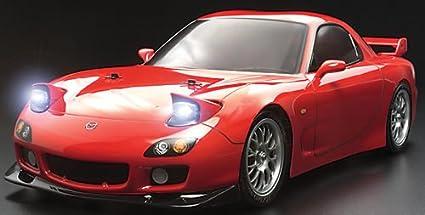 Amazon.com: Mazda RX7 w/LED's Kit: TT01 TAM58382: Toys & Games